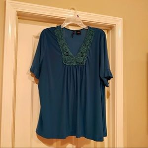 New Directions Short Sleeve Top - Size 2X